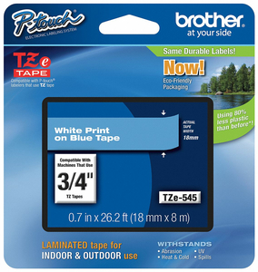 LABEL TAPE CARTRIDGE 26 FT 4 L 45/64 W by Brother