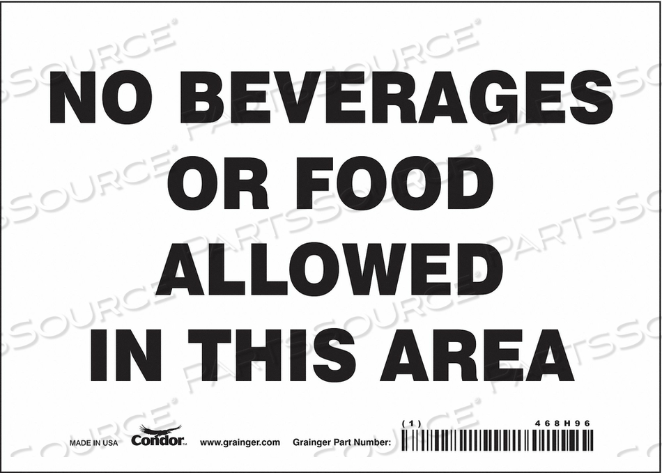 J7011 SAFETY SIGN 7 W 5 H 0.004 THICKNESS by Condor