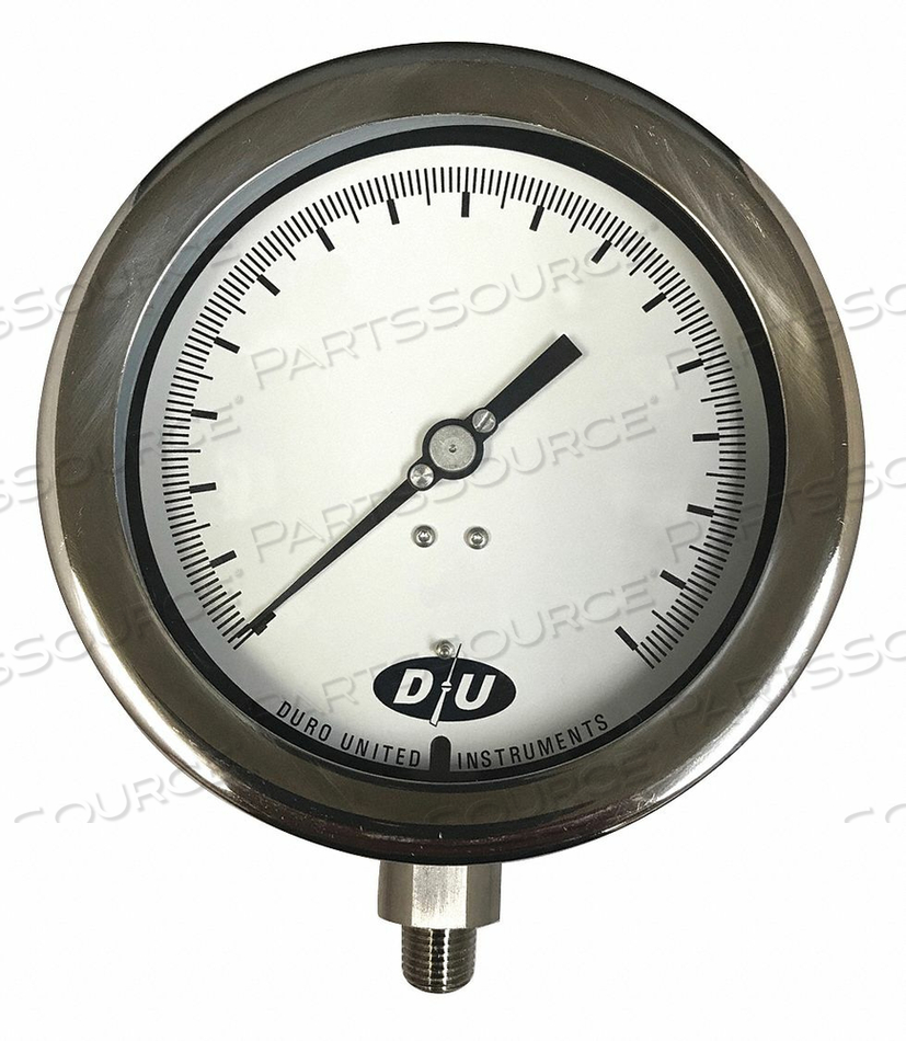 COMPOUND GAUGE 4-1/2 DIAL SIZE by Duro