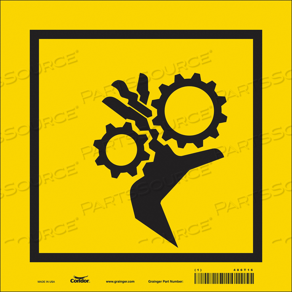 SAFETY SIGN 10 W 10 H 0.004 THICKNESS by Condor