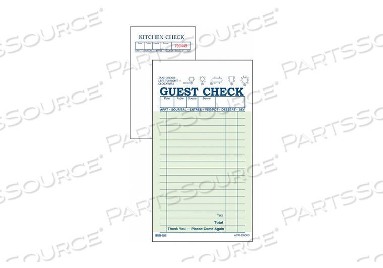 GUEST CHECKS 2-PART CARBON PK50 by Daymark