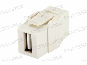 PANDUIT NETKEY USB COUPLER MODULE - MODULAR INSERT (COUPLING) - USB TYPE A - ELECTRIC IVORY by Panduit