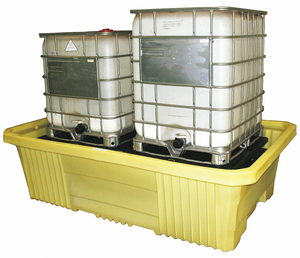 IBC CONTAINMENT UNIT WITH DRAIN YELLOW by Enpac