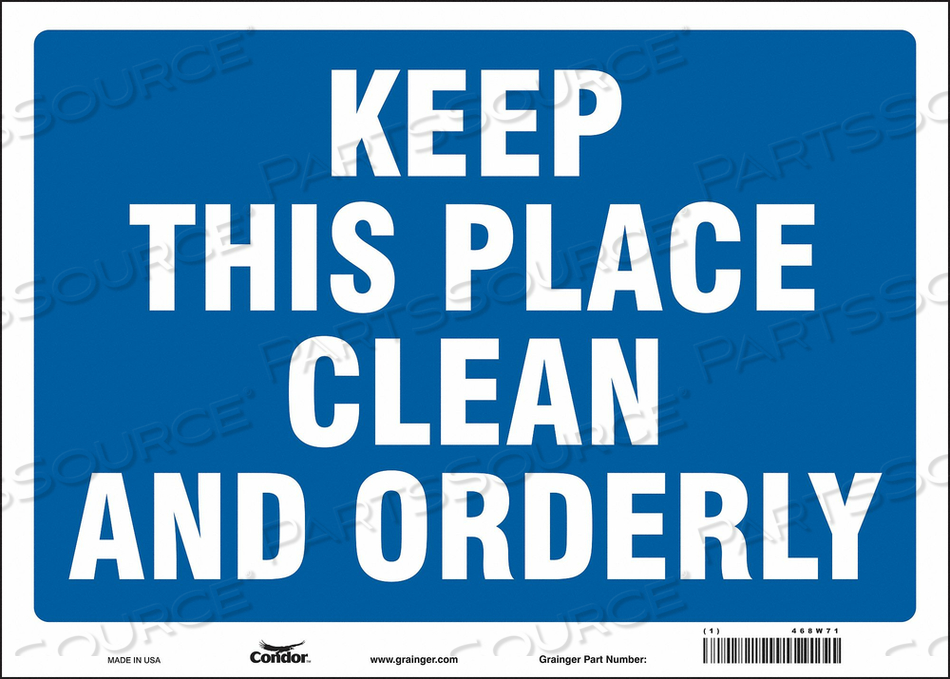 J7010 SAFETY SIGN 14 10 0.004 THICKNESS by Condor