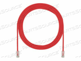 PANDUIT TX5E-28 CATEGORY 5E PERFORMANCE - PATCH CABLE - RJ-45 (M) TO RJ-45 (M) - 22 FT - UTP - CAT 5E - IEEE 802.3AF/IEEE 802.3AT - HALOGEN-FREE, SNAGLESS, STRANDED - RED by Panduit