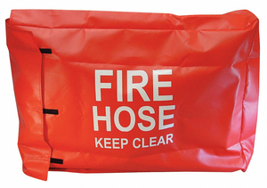 FIRE HOSE COVER 32 IN.L 6 IN.W RED by Moon American