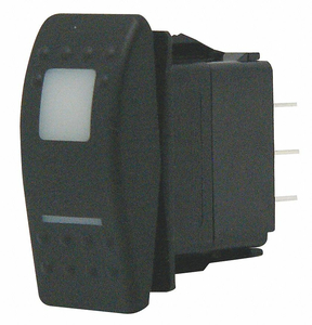 LIGHTED ROCKER SWITCH SPDT 4 CONNECTIONS by Carling Technologies