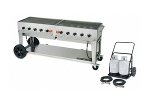 GAS GRILL W/CART LP BTUH 159000 by Crown Verity