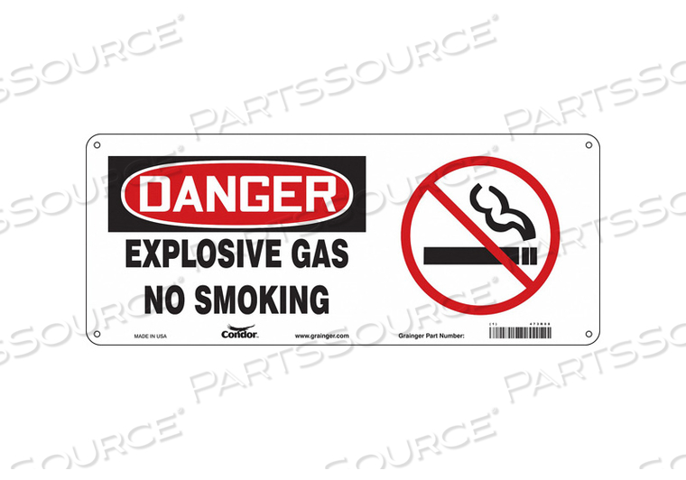 NO SMOKING SIGN 17 WX7 H 0.032 THICK by Condor