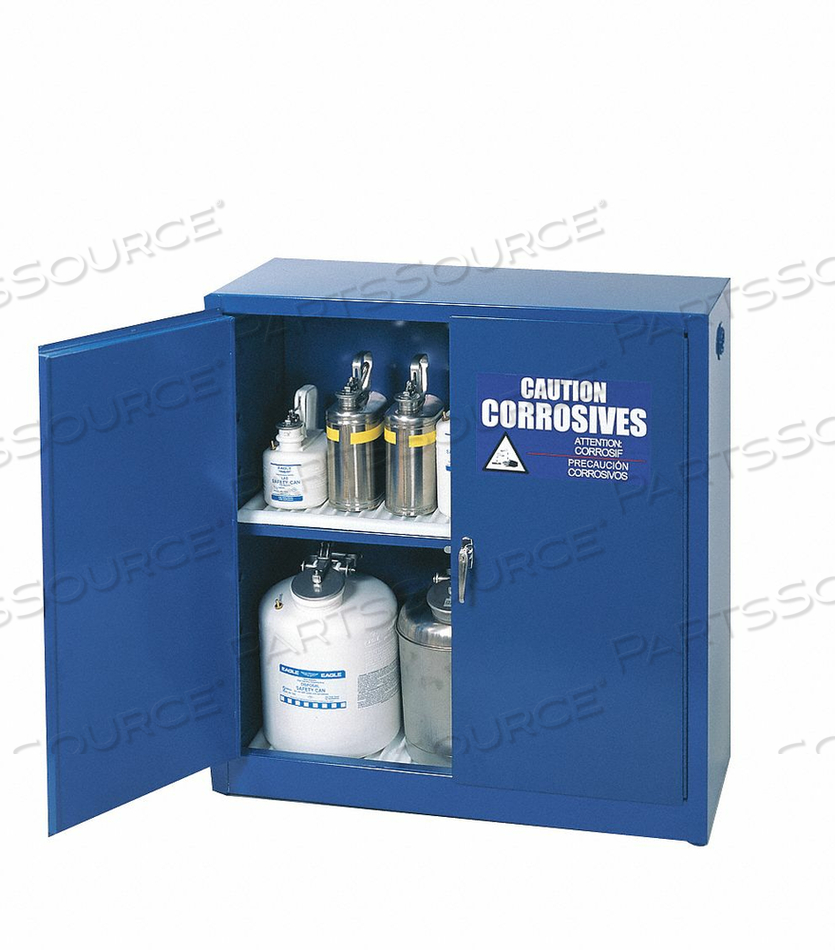 CORROSIVE SAFETY CABINET 30 GAL. BLUE by Eagle