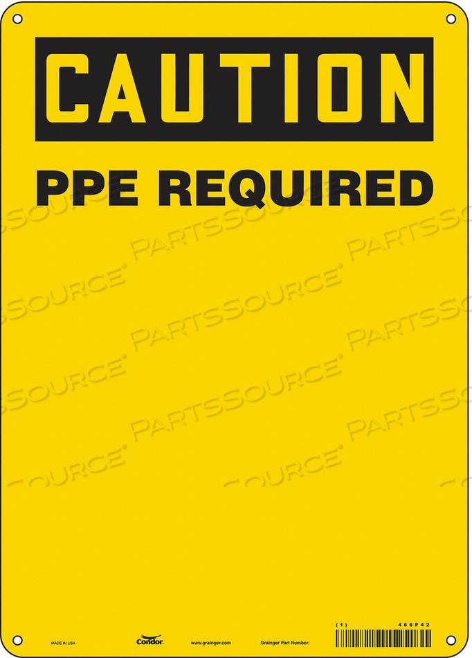 SAFETY SIGN 5 H 7 W FIBERGLASS by Condor