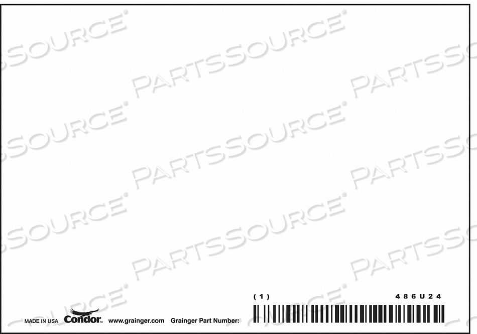 SAFETY SIGN 5 W 3-1/2 H 0.055 THICKNESS by Condor