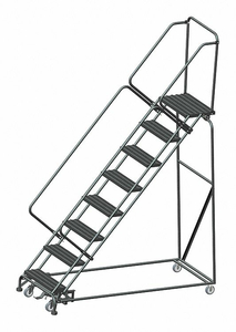LOCKSTEP ROLLING LADDER STEEL 80 IN.H by Ballymore