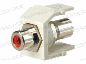 PANDUIT NETKEY RCA PASS-THROUGH MODULE - MODULAR INSERT - RCA - WHITE, RED by Panduit