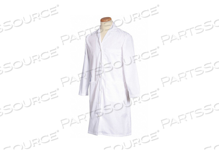 LAB COAT M WHITE 39-1/2 IN L by Fashion Seal