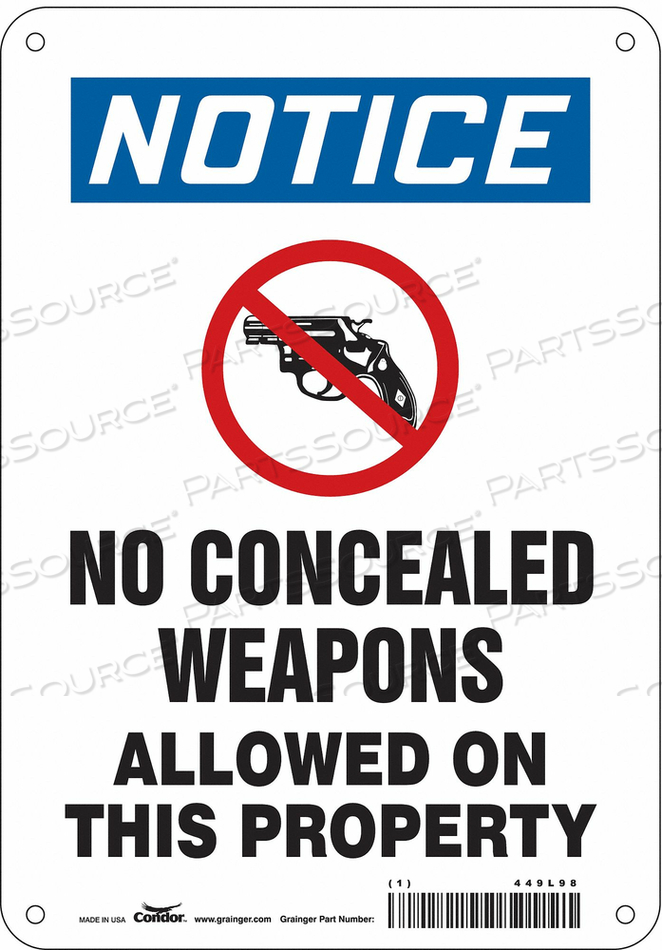 SAFETY SIGN 10 H X 7 W 0.032 THICK by Condor