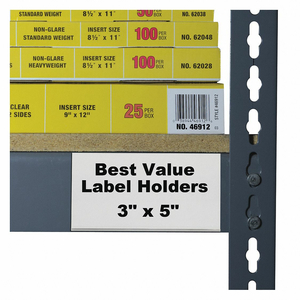 LABEL HOLDER SELF ADHESIVE 3 L PK50 by C-Line