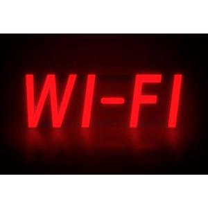 "MYSTIGLO WI-FI LED SIGN - 17""W X 5""H by CM Global"
