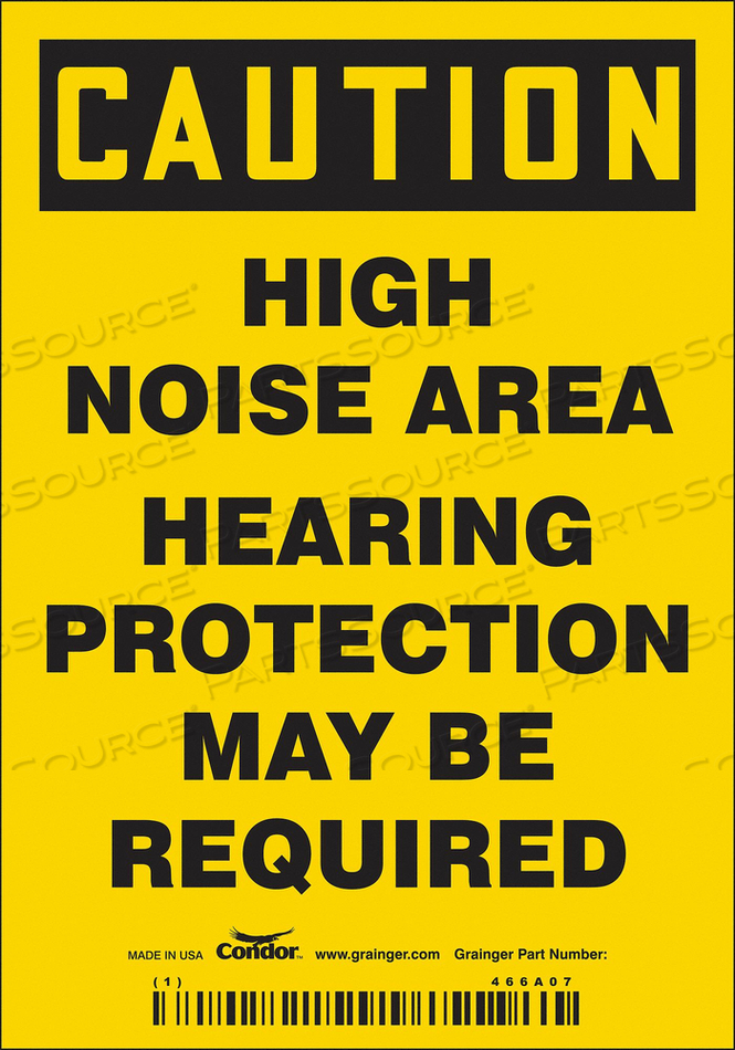 SAFETY SIGN 3-1/2 W 5 H 0.004 THICKNESS by Condor