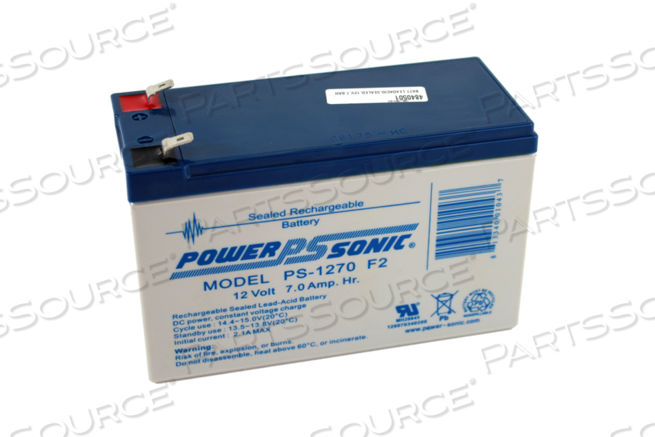 BATTERY, SEALED LEAD ACID, 12V, 7 AH, FASTON (F2) by Hillrom