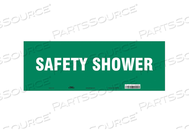 SAFETY SIGN 20 W X 7 H 0.004 THICK by Condor