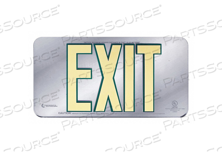 EXIT SIGN 15-1/4 W 8-1/2 H 0.200 THICK by Ability One