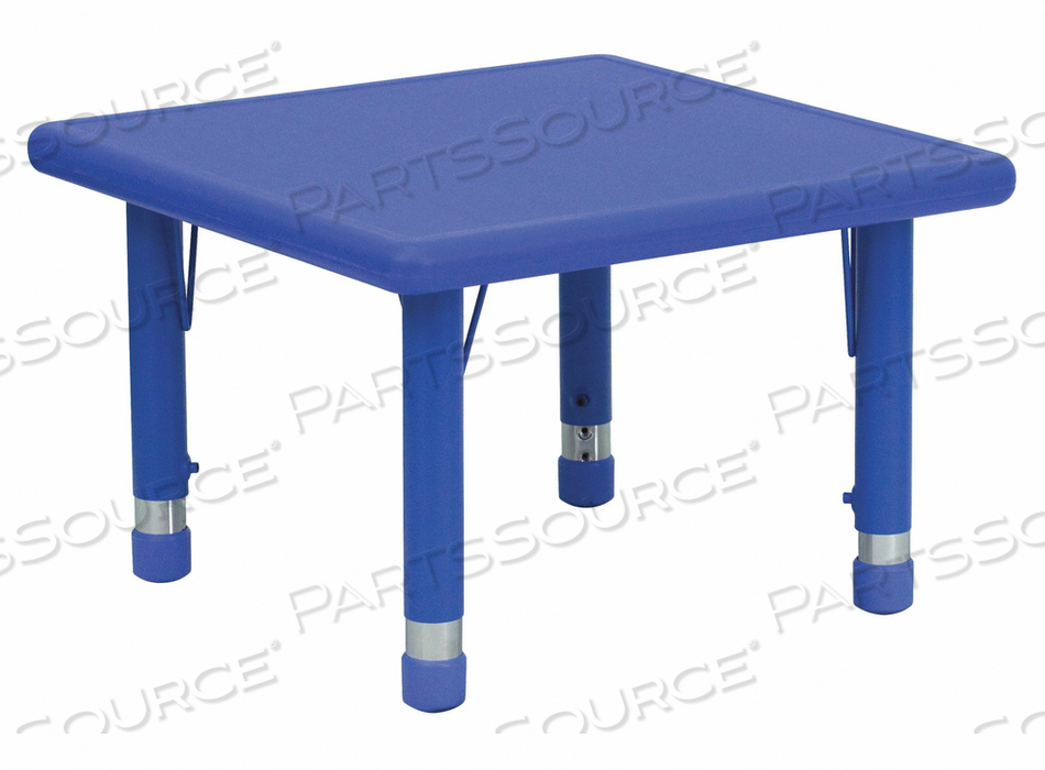 PRESCHOOL ACTIVITY TABLE SQUARE BLUE by Flash Furniture