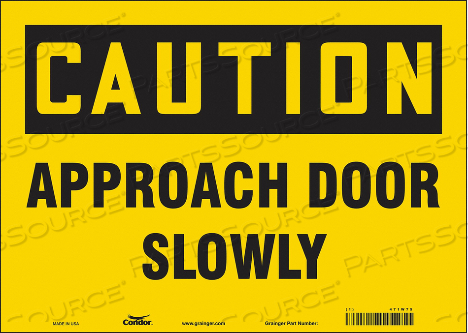 SAFETY SIGN 14 W X 10 H 0.004 THICK by Condor