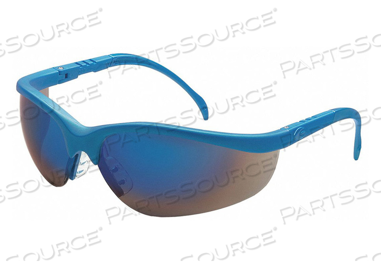 SAFETY GLASSES BLUE MIRROR SCRATCHRESIST by Condor