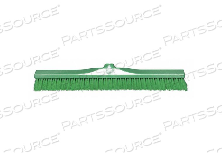 J4754 PUSH BROOM HEAD GREEN BRISTLE 2 L by Tough Guy