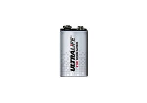 BATTERY, 9V, LITHIUM, 9V, 1200 MAH by Ultralife Batteries, Inc.
