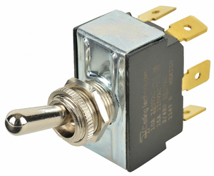 TOGGLE SWITCH DPDT 10A @ 250V QUIKCONNCT by Carling Technologies