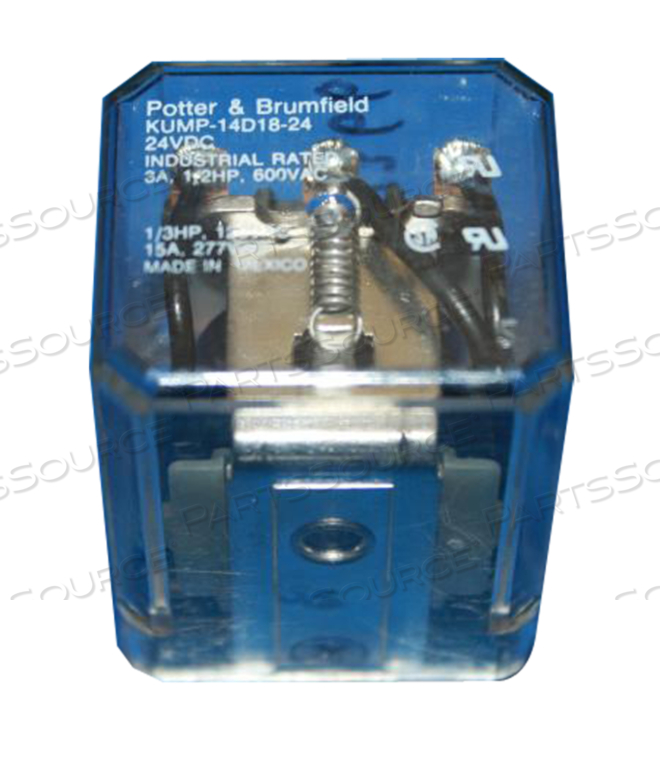 ENCLOSED RELAY 24VDC 3PDT 10A 28VDC/240VAC by GE Healthcare