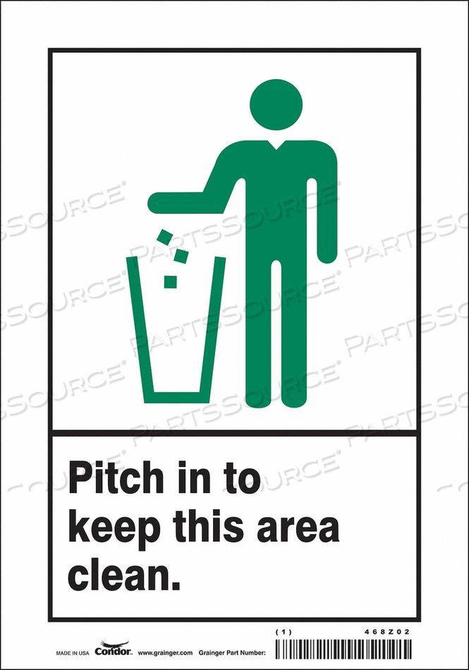 SAFETY SIGN 7 10 0.004 THICKNESS by Condor