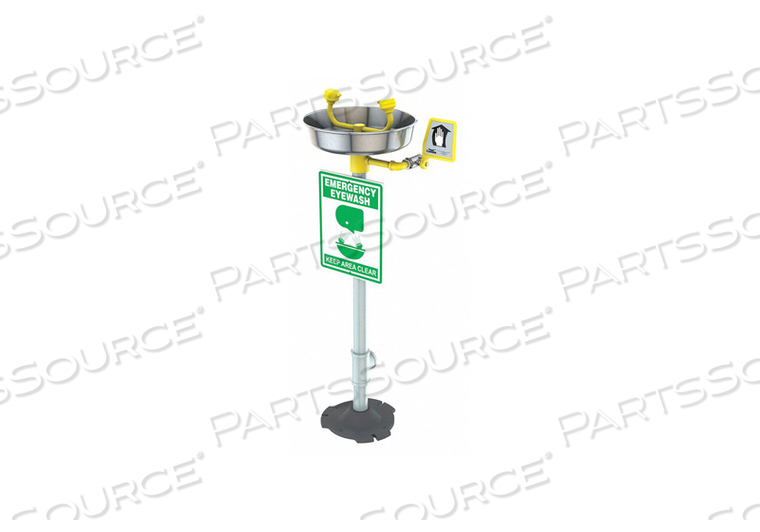 EYEWASH STATION YELLOW 15-3/4 IN D SS by Condor