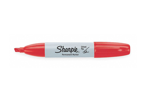 F8500 PERMANENT MARKER RED CHISEL PK12 by Sharpie